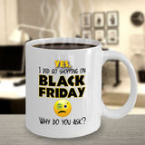 Shopping On Black Friday Mug - Black Eye