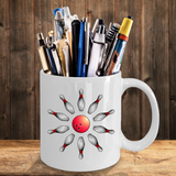 Bowling Coffee Mug Gift - Bowling Pins and Ball