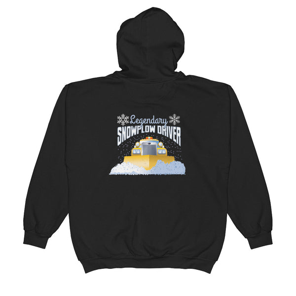 Snowplow Driver Hoodie - Perfect for Your Favorite Plow Driver - Unisex Zip Hoodie