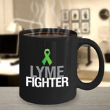 Lyme Fighter Mug with Green Awareness Ribbon