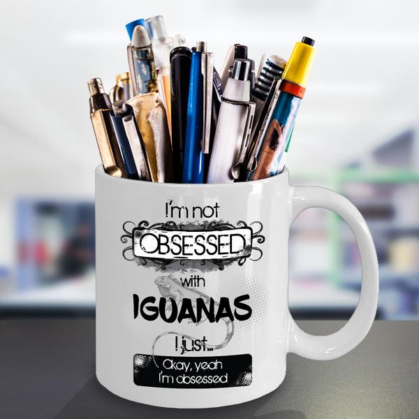Obsessed With Iguanas Mug for Reptile Lovers