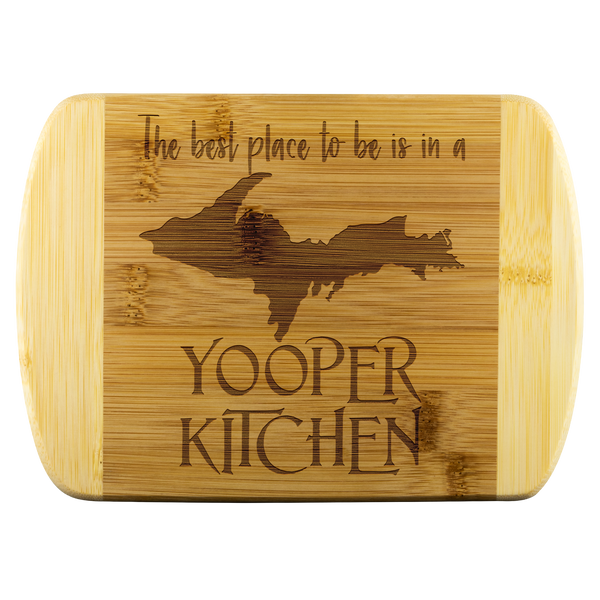 "Yooper Cutting Board for Upper Michigan Residents - 8"" x 5.75"" Bamboo Laser Engraved"