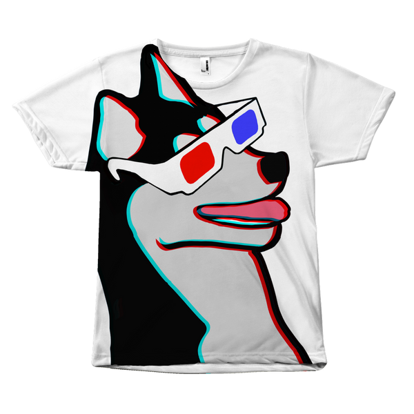 Cool Husky Shirt - Dog Wearing 3D Glasses