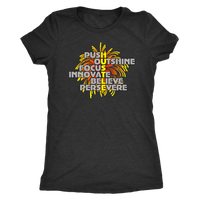 "Entrepreneur HUSTLE Shirt ""Push Outshine Focus Innovate Believe Persevere"""