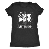 Piano Lover Shirt - My Grand Piano is My Best Friend - Great Gift for Pianists
