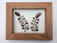 Rock Flowers and Driftwood in Frames Set of 4