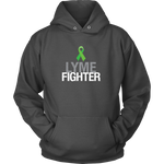 Lyme Fighter Hoodie - Lyme Disease Ribbon