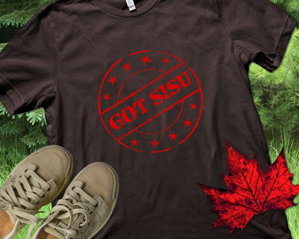 "Finnish ""Got Sisu"" Stamp Shirt - Great Gift for Finn or Yoopers"