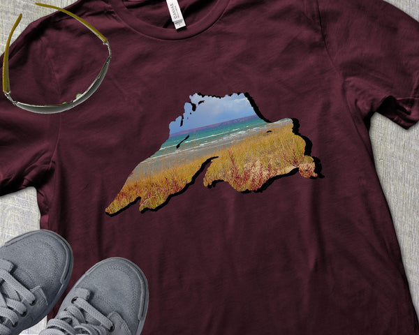 Lake Superior Lovers Shirt | Beach Scene in Autumn