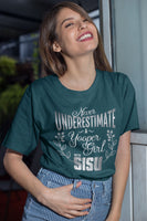 Never Underestimate a Yooper Girl Shirt | Upper Michigan T-shirt | Sisu Gift for Women Yoopers