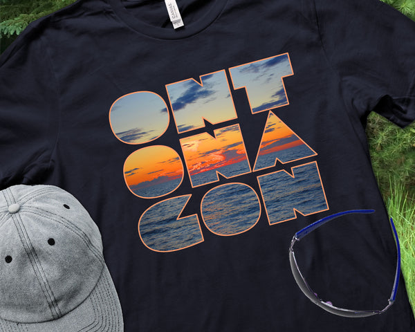 Ontonagon T-shirt | Ontonagon Lake Superior Sunset