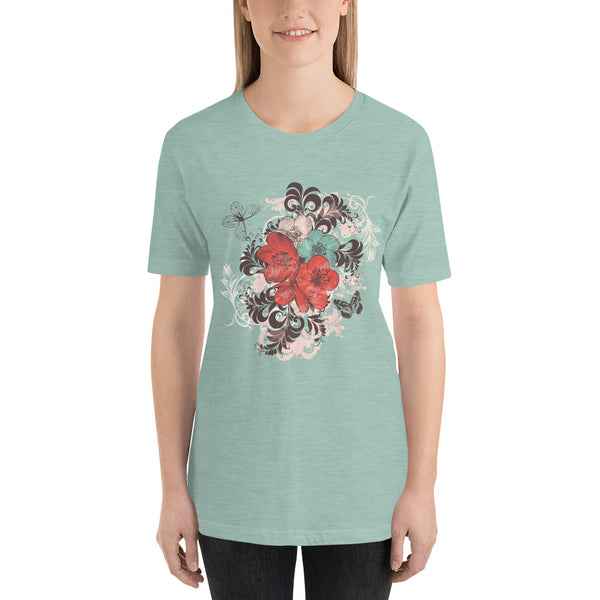 Flower Short-Sleeve Unisex T-Shirt