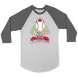 Baseball Shirt for Women - Girls Love Diamonds Raglan - Canvas Unisex