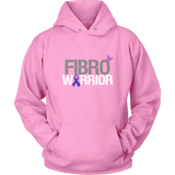 Fibro Warrior Hoodie Fibromyalgia with Purple Awareness Ribbon and Butterfly