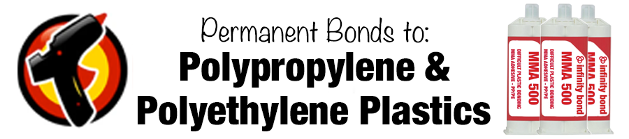 Adhesive for Creating Permanent Bonds to Polypropylene and Polyethylene Plastics