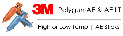 3M Polygun AE and AE LT hot melt glue guns