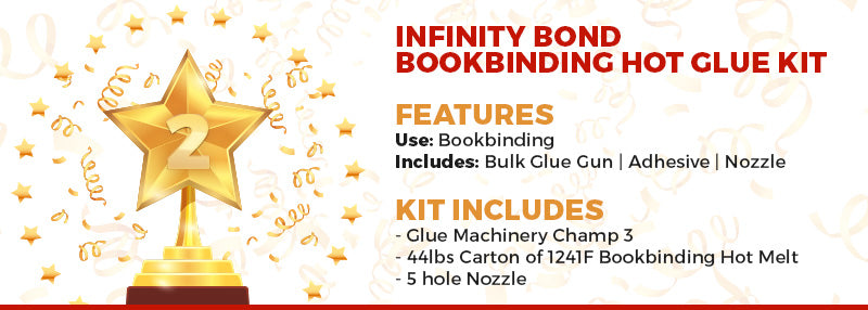 Infinity Bond Bookbinding Hot Glue Kit Infographic