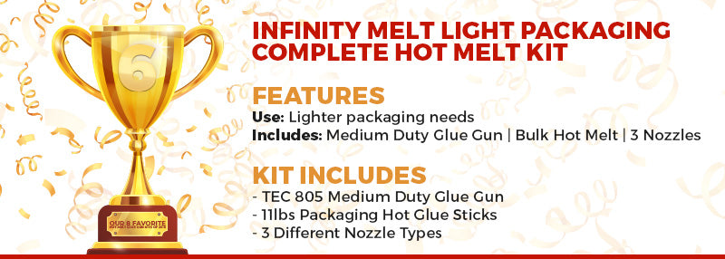 Infinity Melt Light Packaging Complete Hot Melt Kit