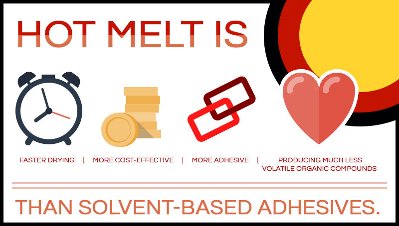 The benefits of hot melt over solvent based adhesives