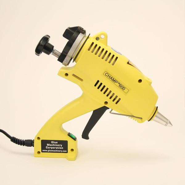 Yellow hot glue gun
