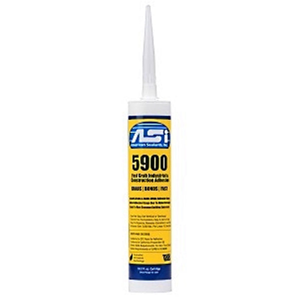 ASI 5900 Fast Grab Adhesive 10.2 oz cartridge