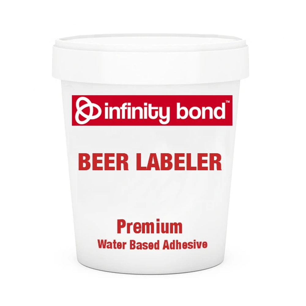 Infinity Bond Premium Beer Bottle Labeling Cold Glue Water Based Adhesive