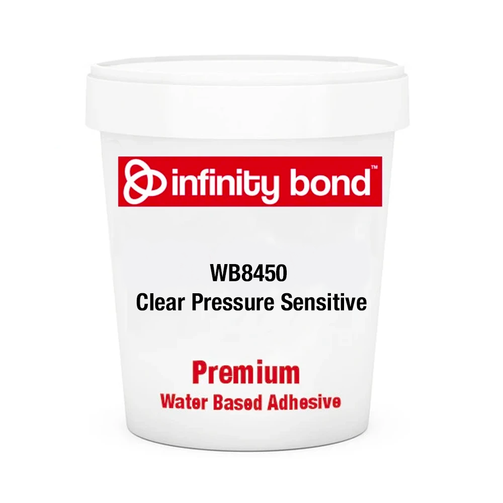 Infinity Bond WB8450 Clear Pressure Sensitive Water Based Adhesive