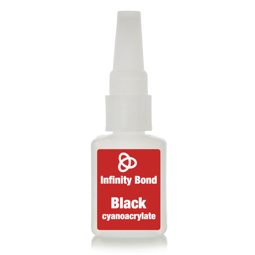 Industrial grade black cyanoacrylate super glue adhesive