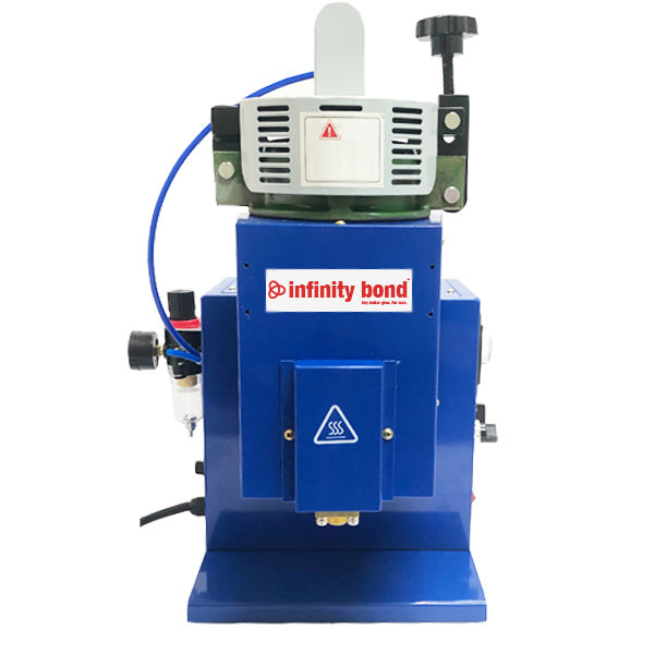 Infinity Bond EasyMELT benchtop pneumatic bulk hot melt dispenser with foot pedal