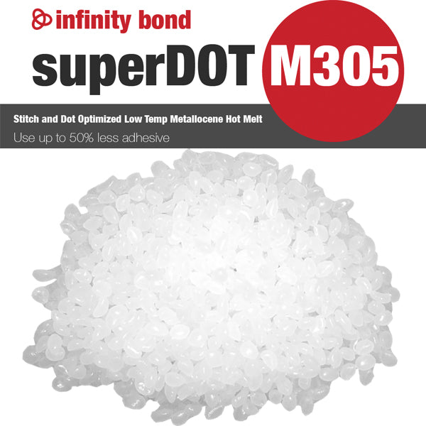Infinity Bond SuperDOT M305 Low temp freezer grade metallocene hot melt