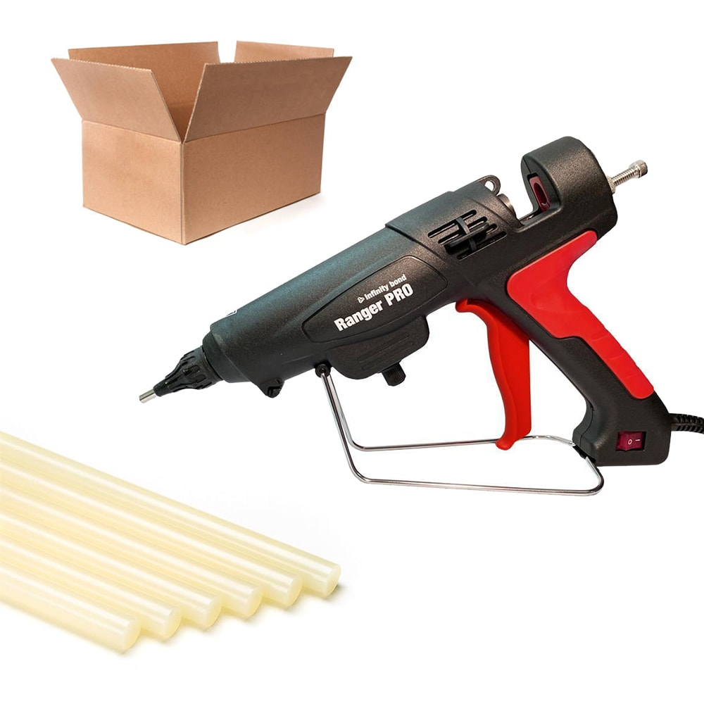 Glue gun and glue stick kit for case and carton sealing