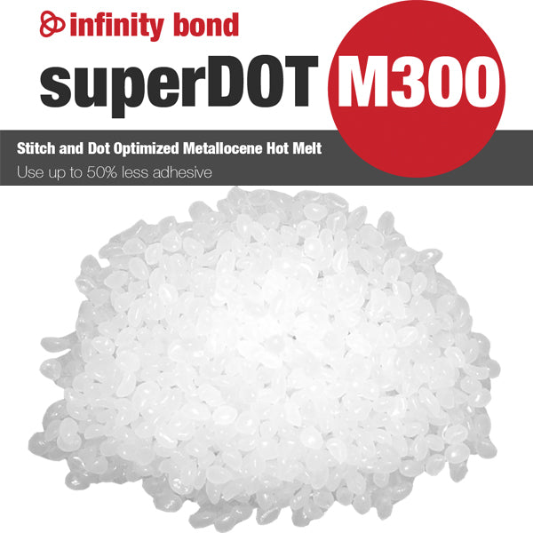 Infinity Bond M300 Metallocene Hot Melt for Stitching and Dotting