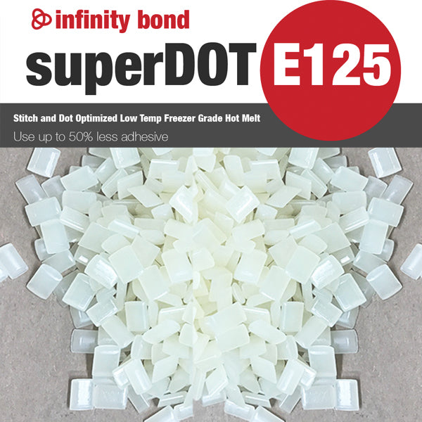 Infinity Bond SuperDOT E125 Low Temp Freezer Grade Hot Melt