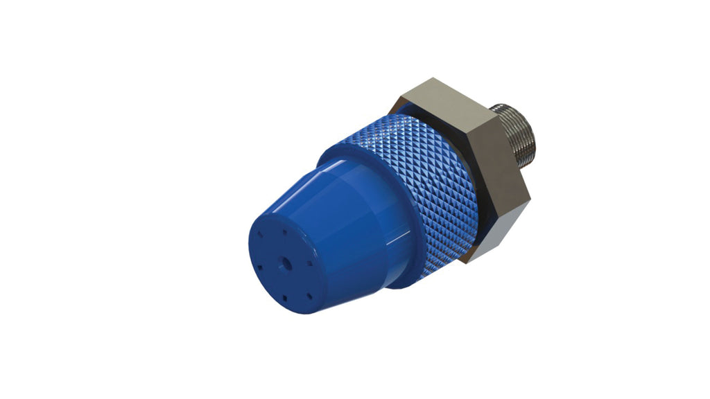 TEC Bond PA6064 wide angle spray nozzle with 2.0mm orifice (blue)