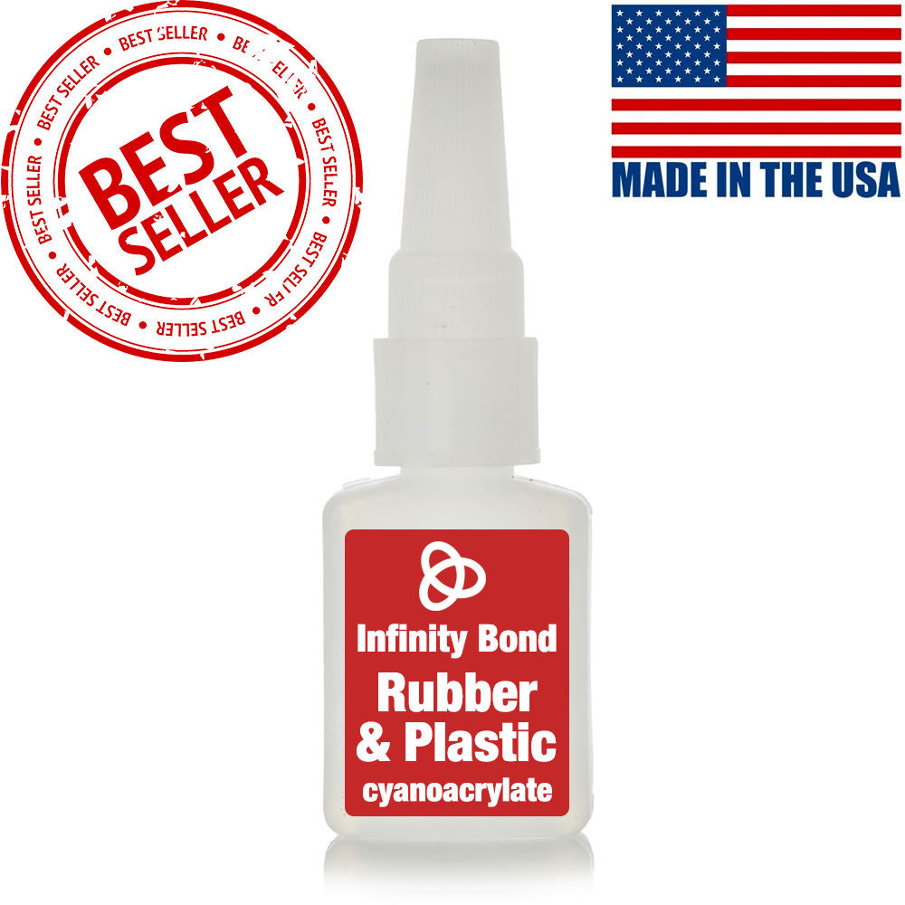 Rubber and plastic bonding cyanoacrylate super glue