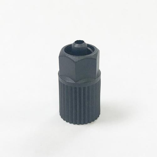 Black 10mm Luer Lock Adapter for Structural Adhesives