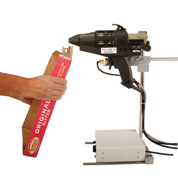Pneumatic foot pedal for hot melt glue gun applicator