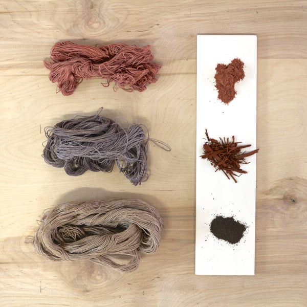 Naturally Dyed Fibre Jewelry Ontario Canada
