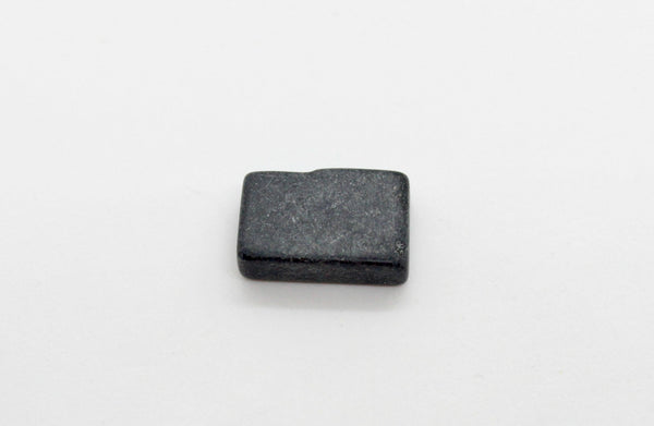 LIMITED SUPPLY Rectangle Flat Dyed Blackstone Beads 17mm (1 pc) 24VLTD