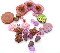 NEW Loose Pink Mix Czech Glass Beads (30 pcs) 41V2