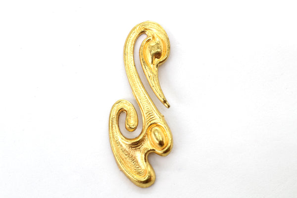 NEW Vintage Art Nouveau Swan Gold Plated Brass 25x20mm (1 pc) 17AV31