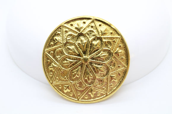 RESTOCK Vintage Gilt Plated Brass Floral Star Brass Stamping Jewelry Supplies 35mm (1 pcs) 43V10