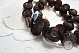 LAST CHANCE Amethyst Flower Czech Glass Beads Purple Flowers 12mm (6 pcs) 43V3