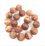 NEW Tibetan Agate Round Band Beads 10mm (2 pieces) 42V31