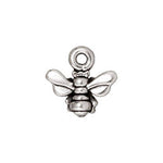 Antiqued Silver Plated Pewter TierraCast Honeybee Charm 11x11mm