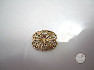 Raw Brass Carved Filigree Brass Rectangle Filigree Findings 12x12mm (1pc) 41V7