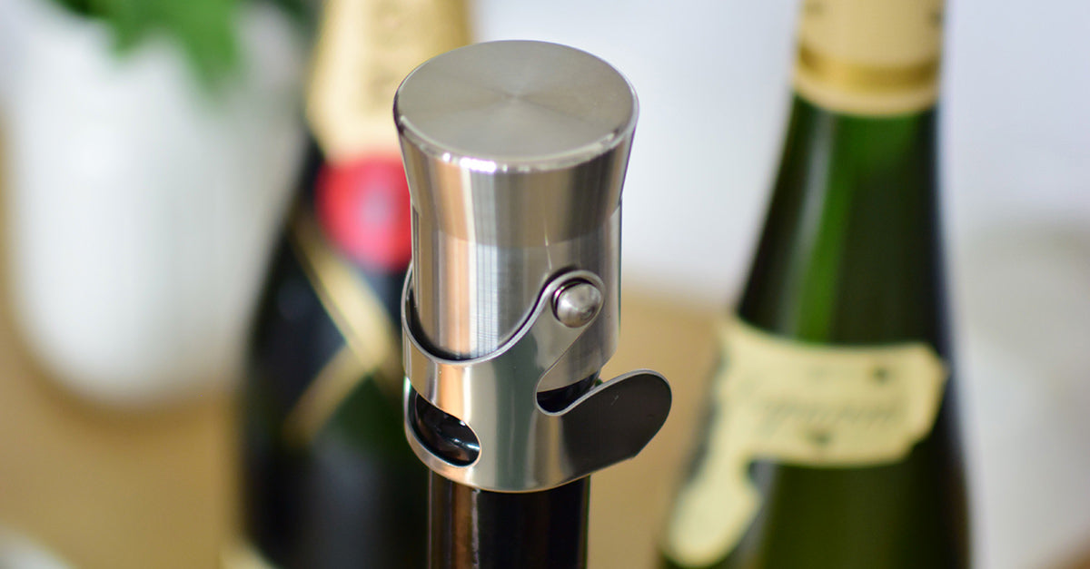 Keep your bubbly sparkling with a champagne stopper!