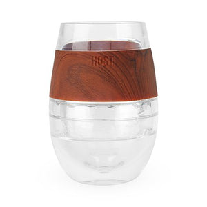 Cooler Than Cool Chilled Wine Glass (Wood)