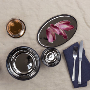 Dauville White and Charcoal Accent Bowls and Trays