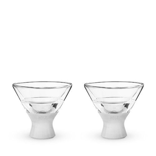 Cooler than Cool Glacier Martini Glass (Set of 2)